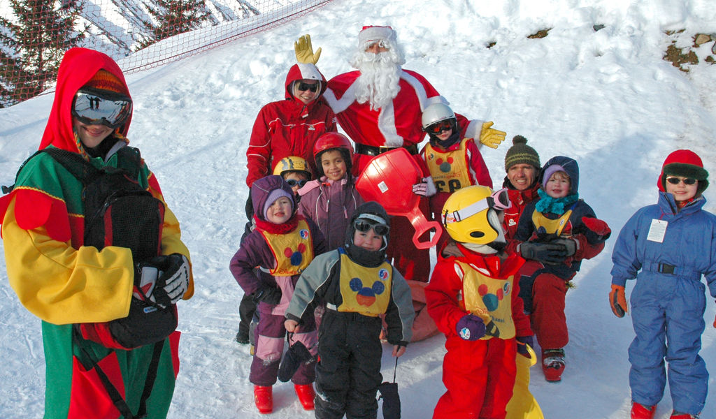Father Christmas at ski school